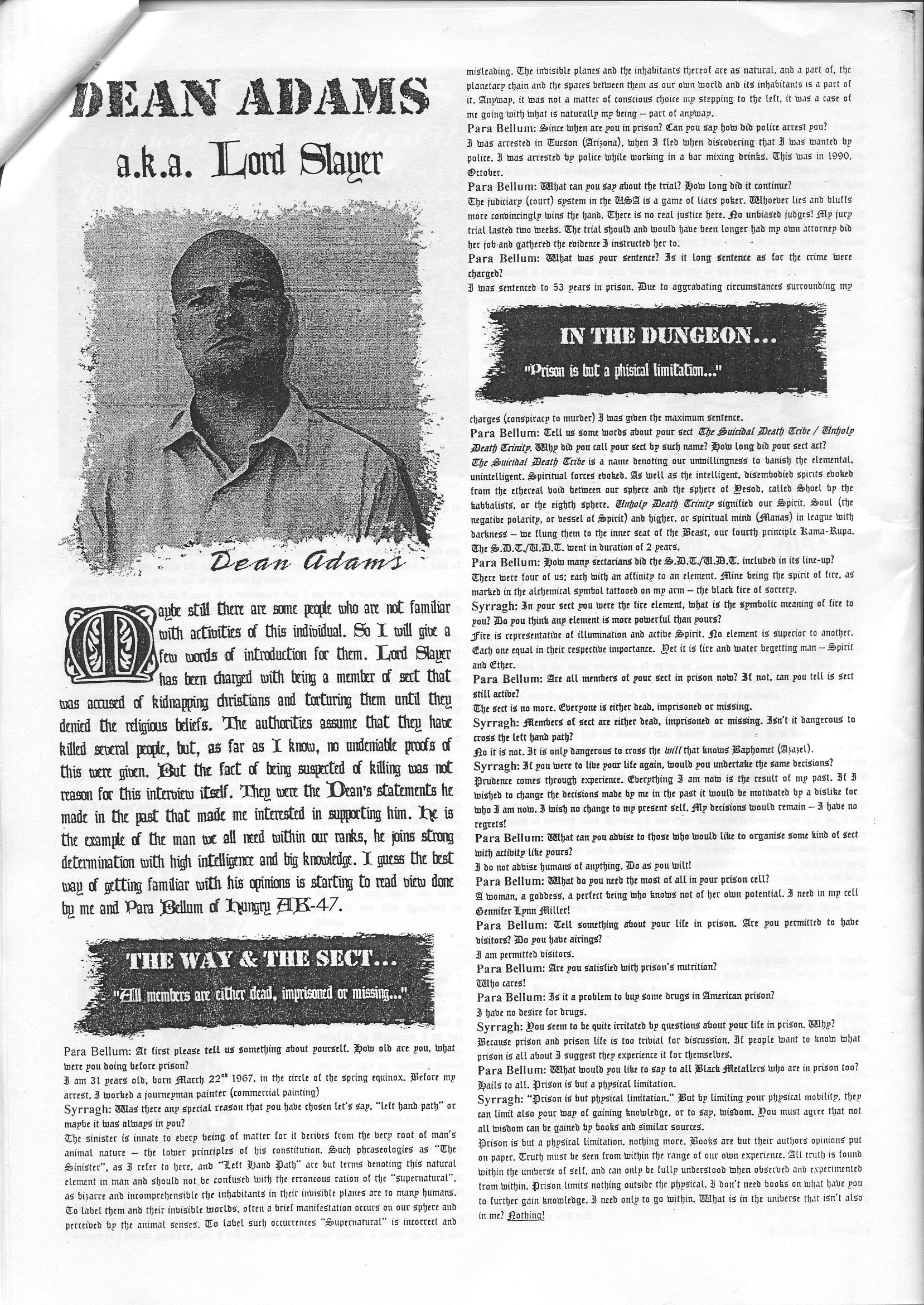 dean s interview in dark blaze dean lord slayer adams share this